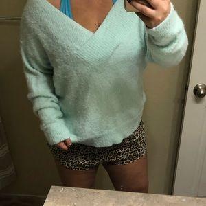 Super soft light blue sweater